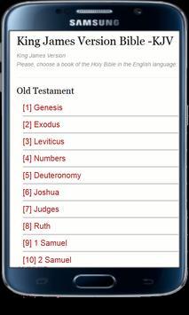 King James Version Bible -KJV poster