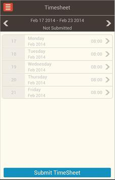 Timesheet | TimeLive Mobile apk screenshot