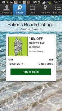 Baker's Beach Cottage apk screenshot