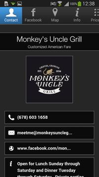 Monkey's Uncle Grill poster