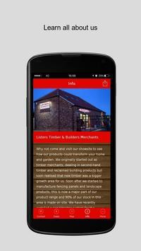Listers Timber Merchants apk screenshot