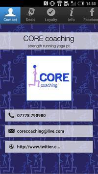 CORE coaching poster