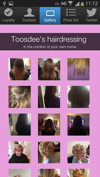 Toosdee's hairdressing apk screenshot