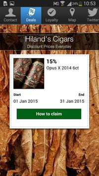 Hiland's Cigars apk screenshot