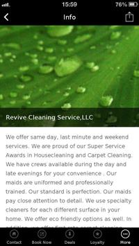 Revive Cleaning Service apk screenshot