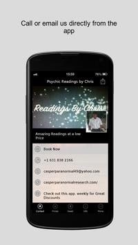 Psychic Readings by Chris poster