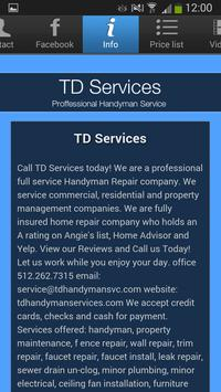 TD Services apk screenshot