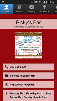Ricky's Bar poster