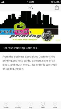 ReFresh Printing Services poster
