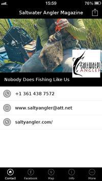 Saltwater Angler Magazine poster