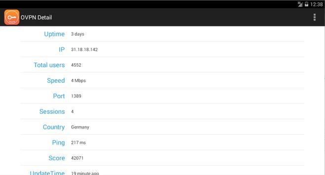 OVPN Finder - Free VPN Tool apk screenshot