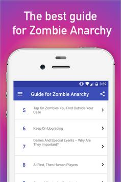 Guide for Zombie Anarchy: War poster