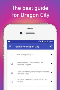 Guide for Dragon City tips poster