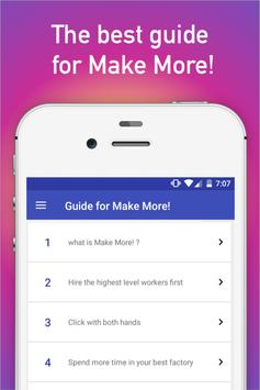 Guide for Make More tips cheat poster