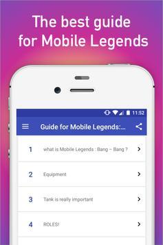 Guide for Mobile Legends: Bang poster