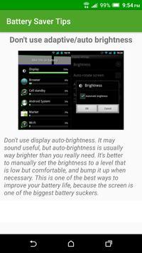 Battery Saver Tips apk screenshot