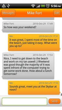 This is SMS apk screenshot