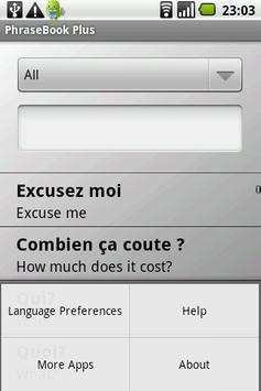 Phrasebook (6 languages) apk screenshot
