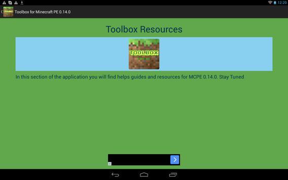 Toolbox for Minecraft PE 0.14 apk screenshot