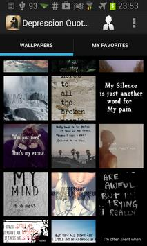 Depression Quotes Wallpapers poster