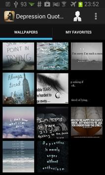 Depression Quotes Wallpapers apk screenshot