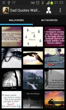 Sad Quotes Wallpapers HD poster
