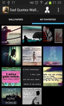Sad Quotes Wallpapers HD apk screenshot