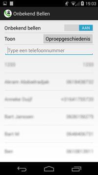 Onbekend bellen apk screenshot