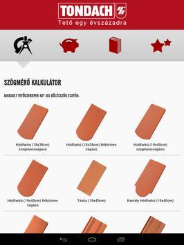 TONDACH® Tetőfedő Alkalmazás apk screenshot
