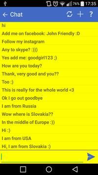 Worldwide chat apk screenshot