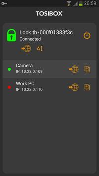 TOSIBOX Mobile Client apk screenshot