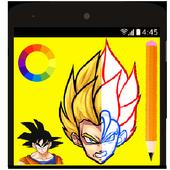 How to draw Dragon Ball Z DBZ icon