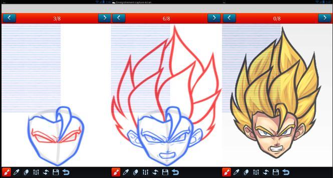 How to draw Dragon Ball Z DBZ poster