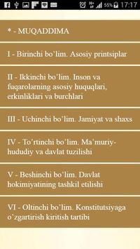 Konstitutsiyasi - O`zbekiston poster