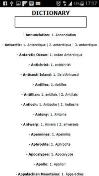 French-English: Dictionary apk screenshot