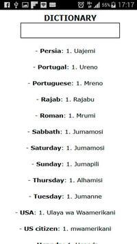 Swahili-English: Dictionary poster
