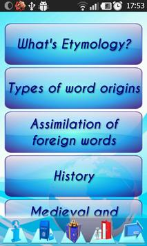 Etymology: 280 Roots of words poster