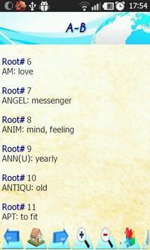 Etymology: 280 Roots of words apk screenshot
