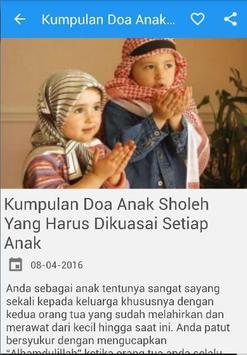 Doa Anak Sholeh Sholehah apk screenshot
