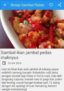 Resep Aneka Sambal Pedas Joss apk screenshot