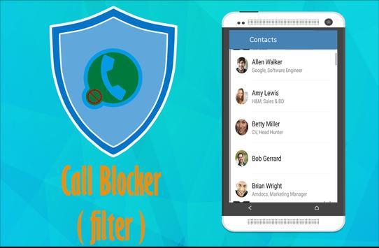 Call Blocker (Filter) apk screenshot
