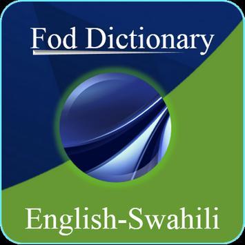English Swahili Dictionary poster