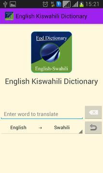English Swahili Dictionary apk screenshot