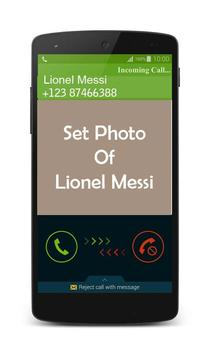 Lionel Messi Fake Call poster