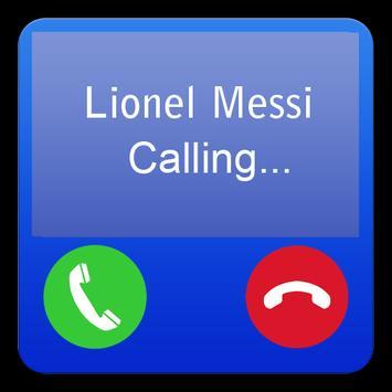 Lionel Messi Fake Call apk screenshot