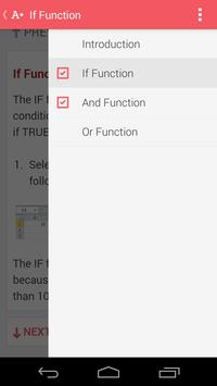 MS Excel Tutorial apk screenshot