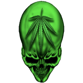 Skull marijuana Storm 3D LWP icon