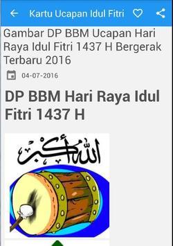 Kartu Ucapan Idul Fitri DP BB poster
