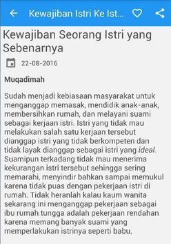 Kewajiban Istri Menurud Islam apk screenshot