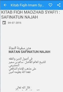 Kitab Fiqih Imam Syafii poster